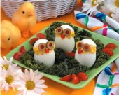 Huevos buceando