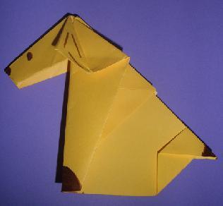 Cómo hacer un perro con papel