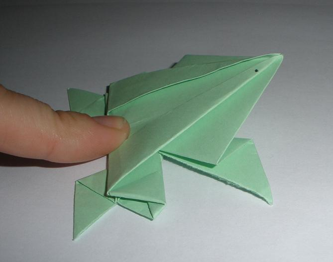 Cómo hacer una Rana Saltarina con papel