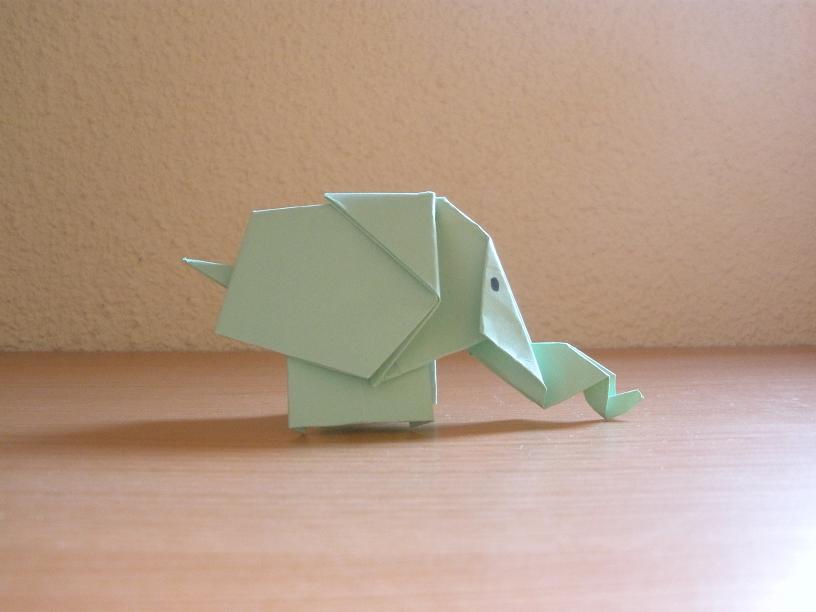 Cómo hacer un elefante de papel