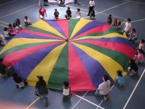 juegos con paracaidas - teOcio