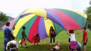juegos con paracaidas | teocio