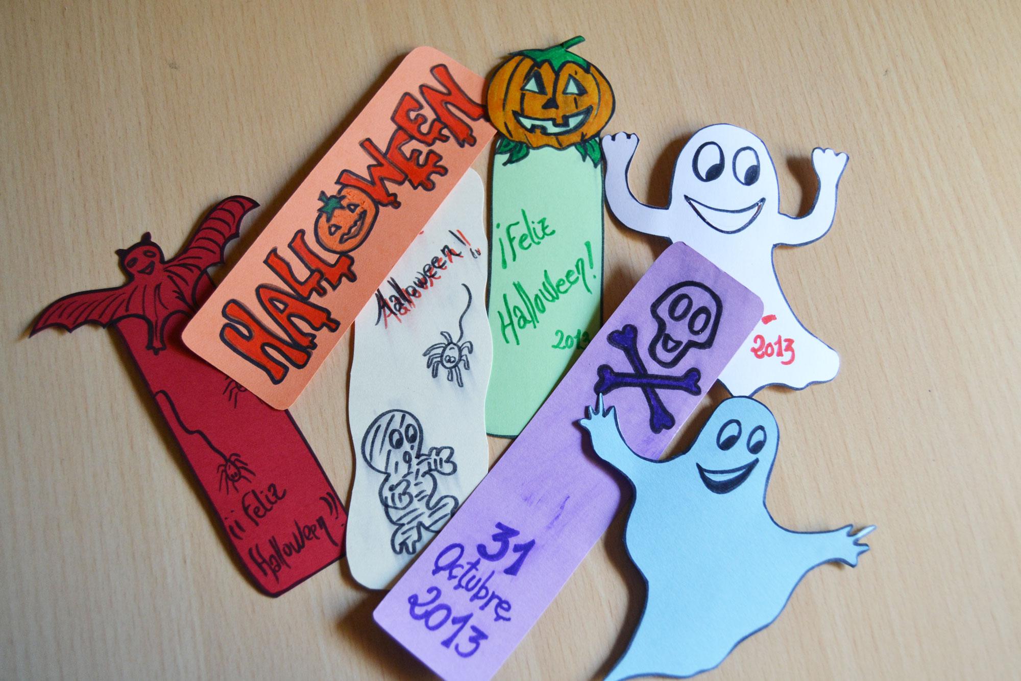 Marcapáginas de Halloween