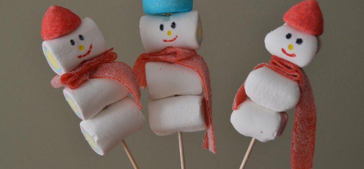 Muñecos de nieve con chuches